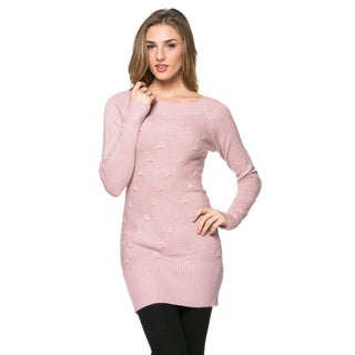 High Secret Women's Solid-colored Knit Tunic Dress
