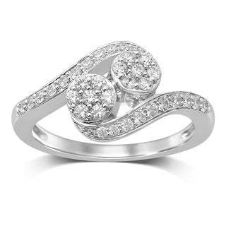 Unending Love Diamond and White Gold Flower Top Fashion Ring