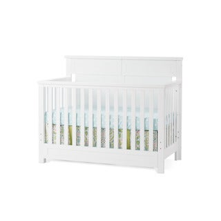 Child Craft Abbott Matte White 4-in-1 Lifetime Convertible Crib