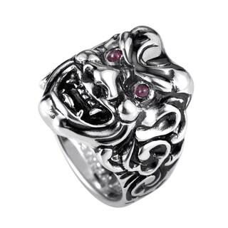 Stephen Webster Sterling Silver Ruby Japanese Warrior Mask Ring