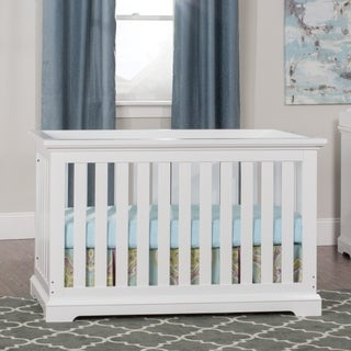 Kayden 4-in-1 Matte White Convertible Crib