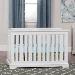 Kayden 4-in-1 Matte White Convertible Crib