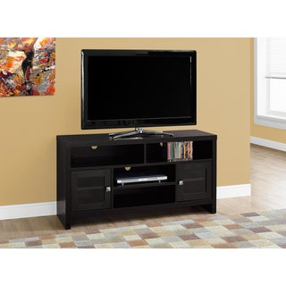 Cappuccino MDF 48-inch TV Stand With Glass Doors
