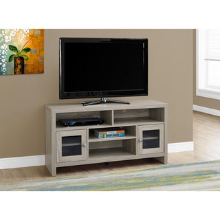 Dark Taupe MDF 48-inch TV Stand With Glass Doors