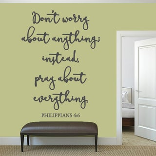 "Dont Worry About Anything Wall Decal - 44"" wide x 60"" tall"