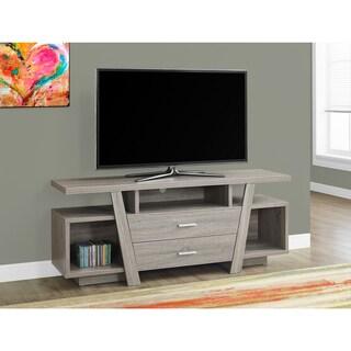 2-drawer Dark Taupe 60-inch TV Stand
