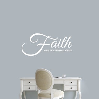 """Faith Makes Things Possible Wall Decal - 36"""" wide x 16"""" tall"""