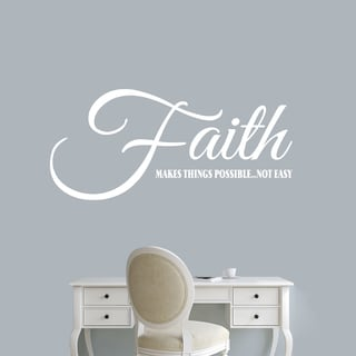 "Faith Makes Things Possible Wall Decal - 48"" wide x 22"" tall"