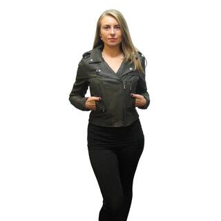 BCBG Max Azria Isa Olive Green Leather Jacket|https://ak1.ostkcdn.com/images/products/12850476/P19614033.jpg?impolicy=medium