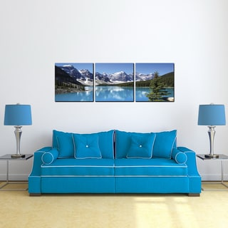 Furinno SeniA Snow Lake 3-Panel MDF Framed Photography Triptych Print
