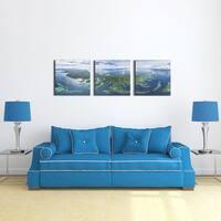Furinno SeniA 3-panel 'Seventy Islands' Photography Triptych Print