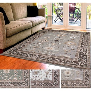 Admire Home Living Catherine Bone/Grey/Green Olefin Aztec Area Rug (7'10 x 10'2)
