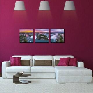 Furinno SeniA Niagara Falls 3-Panel MDF Framed Photography Triptych Print