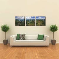 Furinno SeniA Finest Framed 'Under Heaven' MDF 48-inch x 16-inch 3-panel Triptych-print Photography