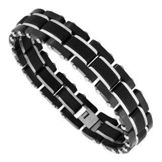 Men's Black Stainless Steel Bracelet|https://ak1.ostkcdn.com/images/products/12850520/P19614042.jpg?impolicy=medium