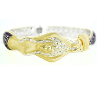 One-of-a-kind Michael Valitutti African Amethyst Mermaid Bangle