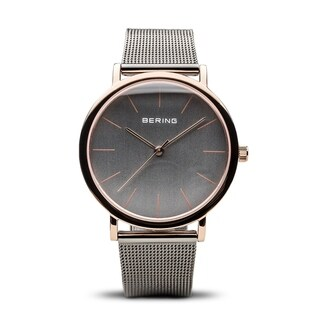 Bering Men's Classic Two-tone Stainless Steel Milanese Mesh Watch