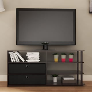 Link to Porch & Den Astor Walnut Brown MDF TV Stand Similar Items in TV Consoles