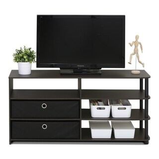 Furinno Jaya Walnut Brown MDF TV Stand
