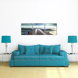 Furinno Senia Bridge 48 x 16-inch MDF 3-panel Framed Photography Triptych Print