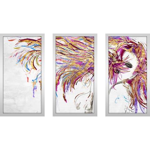 "BY Jodi ""Whip"" Framed Plexiglass Wall Art Set of 3"