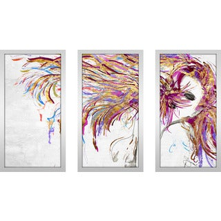"BY Jodi ""Whip"" Framed Plexiglass Wall Art Set of 3"