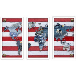 "BY Jodi ""Traveling Pants 2"" Framed Plexiglass Wall Art Set of 3"