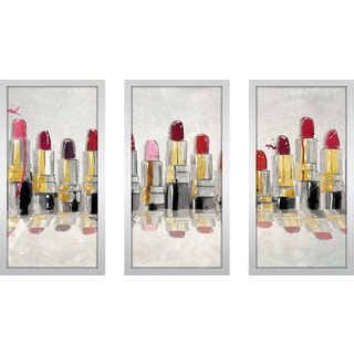 "BY Jodi ""The Right Shade"" Framed Plexiglass Wall Art Set of 3"