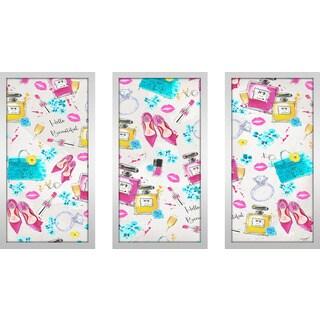 "BY Jodi ""Spring On My Mind 3"" Framed Plexiglass Wall Art Set of 3"