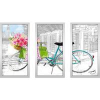 "BY Jodi ""Saturday In London"" Framed Plexiglass Wall Art Set of 3"