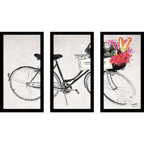 "BY Jodi ""Rolling With "" Framed Plexiglass Wall Art Set of 3"