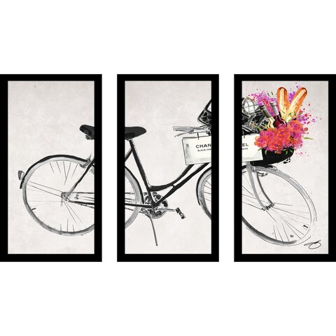 "BY Jodi ""Rolling With "" Framed Plexiglass Wall Art Set of 3"