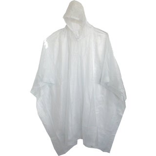 "Boss Rainwear 61 80"" Clear Side Snap Vinyl Poncho"