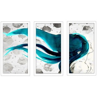"BY Jodi ""In The Wind"" Framed Plexiglass Wall Art Set of 3"