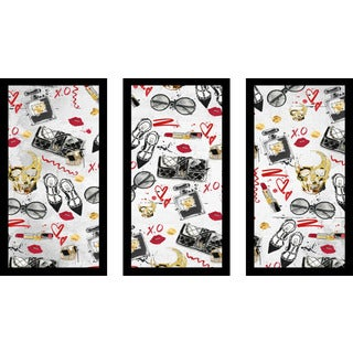 "BY Jodi ""Fashion Victim 1"" Framed Plexiglass Wall Art Set of 3"