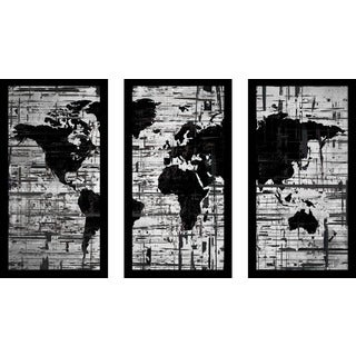 "BY Jodi ""Distressed"" Framed Plexiglass Wall Art Set of 3"