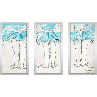 "BY Jodi ""Dance Class"" Framed Plexiglass Wall Art Set of 3"
