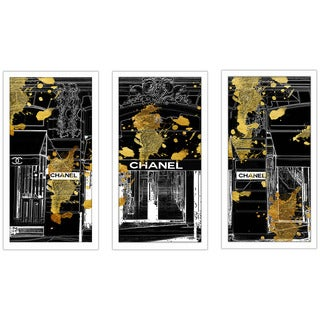 "BY Jodi "" Store Front"" Framed Plexiglass Wall Art Set of 3"