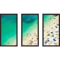 """Beach Please Xi"" Framed Plexiglass Wall Art Set of 3"