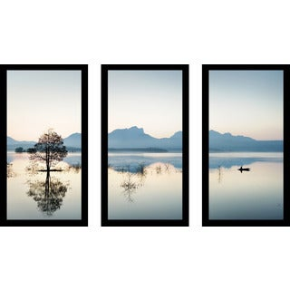 """Gone Fishin'"" Framed Plexiglass Wall Art Set of 3"