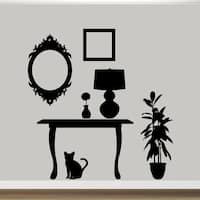 Large Funiture Silhouettes Wall Decal