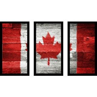 """Canada"" Framed Plexiglass Wall Art Set of 3"