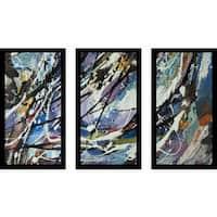 """Escape"" Framed Plexiglass Wall Art Set of 3"
