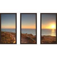 """""""Edge Of The Ocean"""" Framed Plexiglass Wall Art Set of 3"""