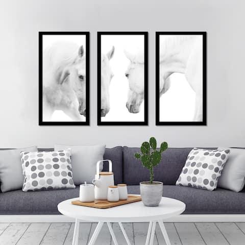 """""""Brothers"""" Framed Plexiglass Wall Art Set of 3"""