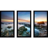 """""""Sunset Splendor 2"""" Framed Plexiglass Wall Art Set of 3"""