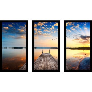 """The Heart Of The Ocean"" Framed Plexiglass Wall Art Set of 3"