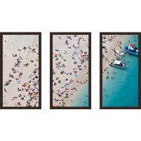 """Beach Please Viii"" Framed Plexiglass Wall Art Set of 3"