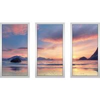 """""""Ocean Of Noise"""" Framed Plexiglass Wall Art Set of 3"""