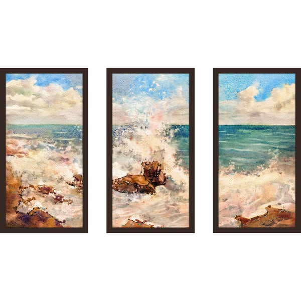 """Rocky"" Framed Plexiglass Wall Art Set of 3"